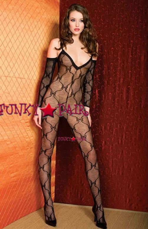 ML-1271, Bow Lace BodyStocking