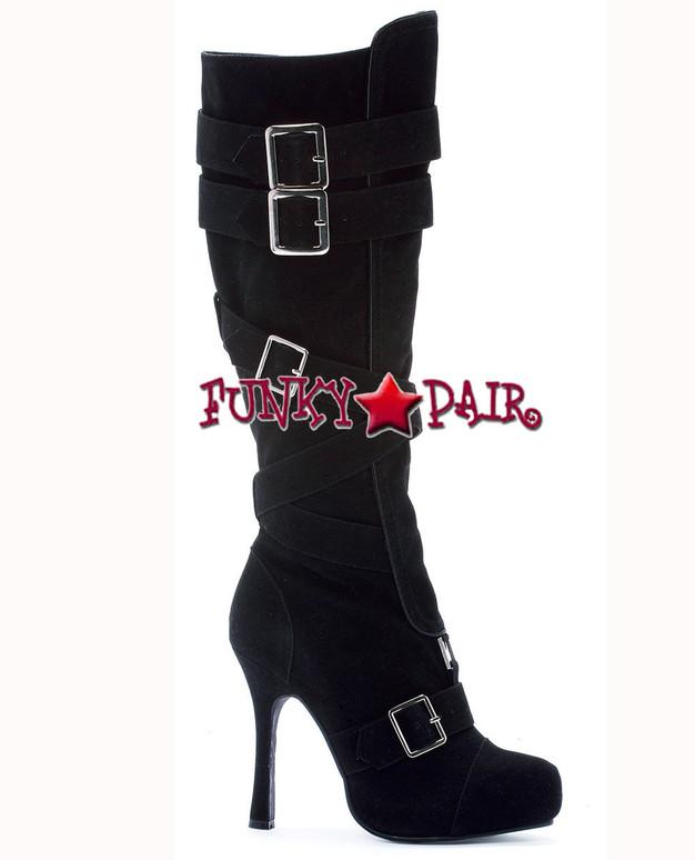 420-VIXEN * 4 inch microfiber knee high boot with buckles