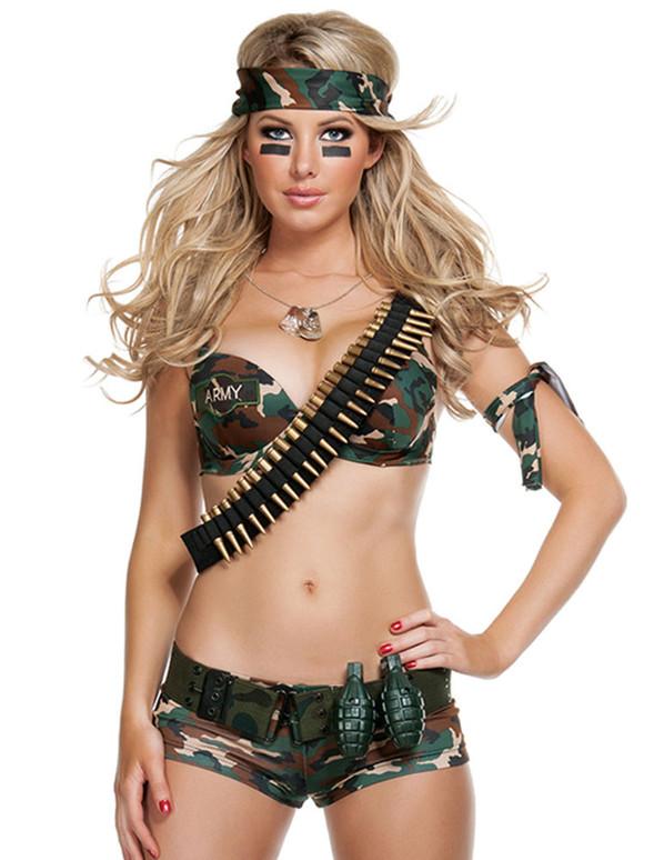 S2033, Sexy 2pc. Combat Hottie Costume
