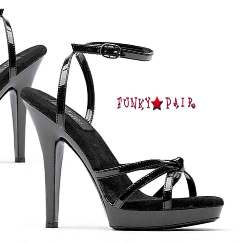 M-Gigi, 5 Inch High Heel with 1/2 Inch Platform Stiletto Heel Strappy Sandal Made by ELLIE Shoes