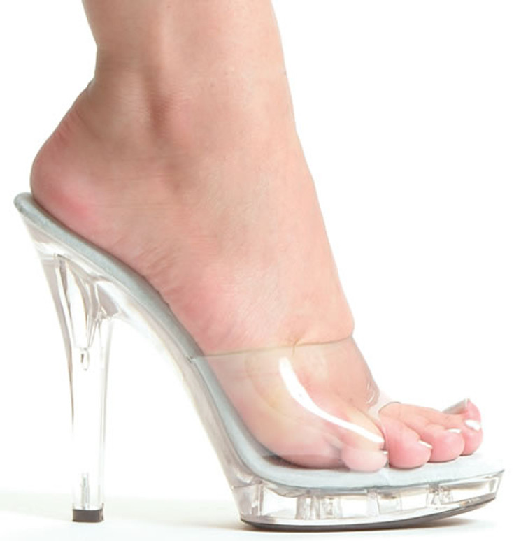 M-Vanity, 5 Inch High Heel with 1/2 Inch Clear Platform Shoes Made by ELLIE Shoes