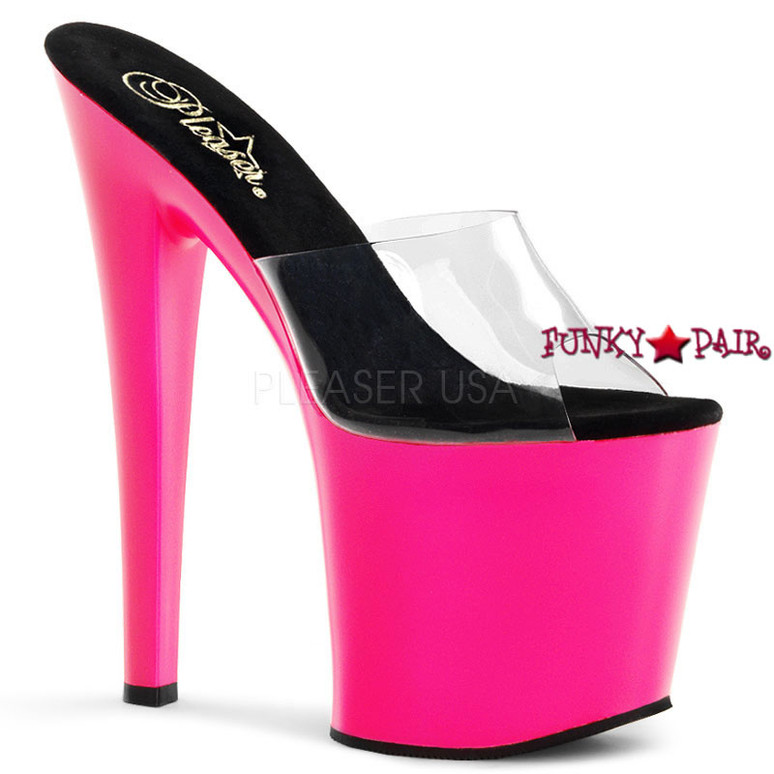 Pleaser | Taboo-701UV, Platform Slide with UV Bottom