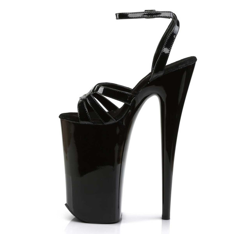 Beyond-012, 10 Inch Stripper Shoes Wrap Around Ankle Strap Sandal   Pleaser Shoes Side View