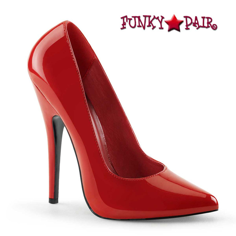 "6"" Red Fetish Pump Domina-420 by Pleaser"