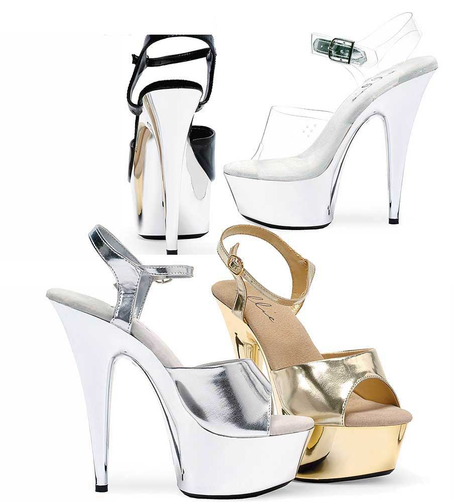 215013a7f7 609-Chrome, 6 Inch High Heel with 1.75 Inch Platform sexy shoes Made by ...