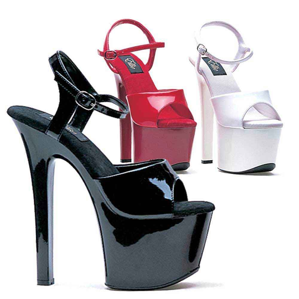 ELLIE Shoes Exotic Dance High Heels Platform Sandals 711-FLIRT-C Clear Clothing, Shoes & Accessories