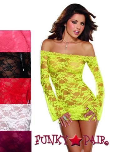 6ef667f1f3 DG-4208   Lace Courtesan Off The Shoulder Tunic