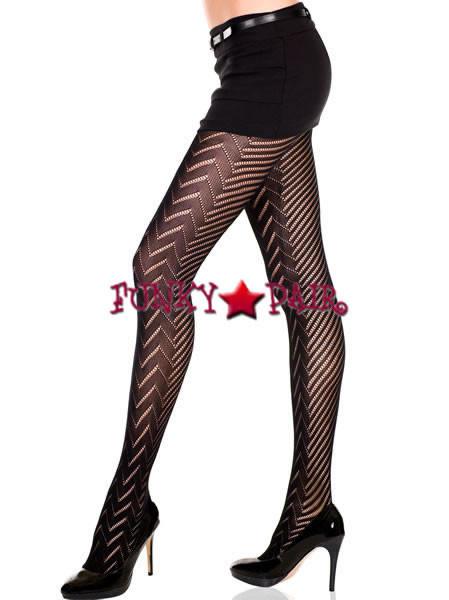 New Music Legs 7229 Lycra Faux Sheer Suspender
