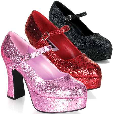 """Details about  /Sexy 4/"""" High Heel Cream Mary Jane Pumps Shoes Lightning Bolt Silver Glitters"""