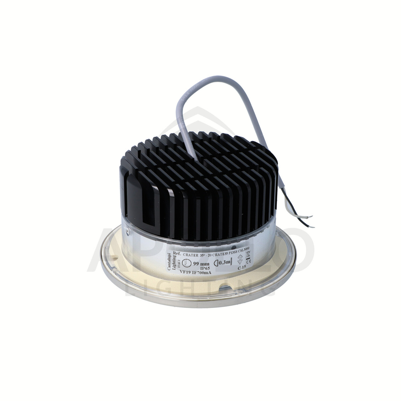 CRATER DOWNLIGHT STAINLESS STEEL (D4-CRATE-L1330-35-SS-23-000P)
