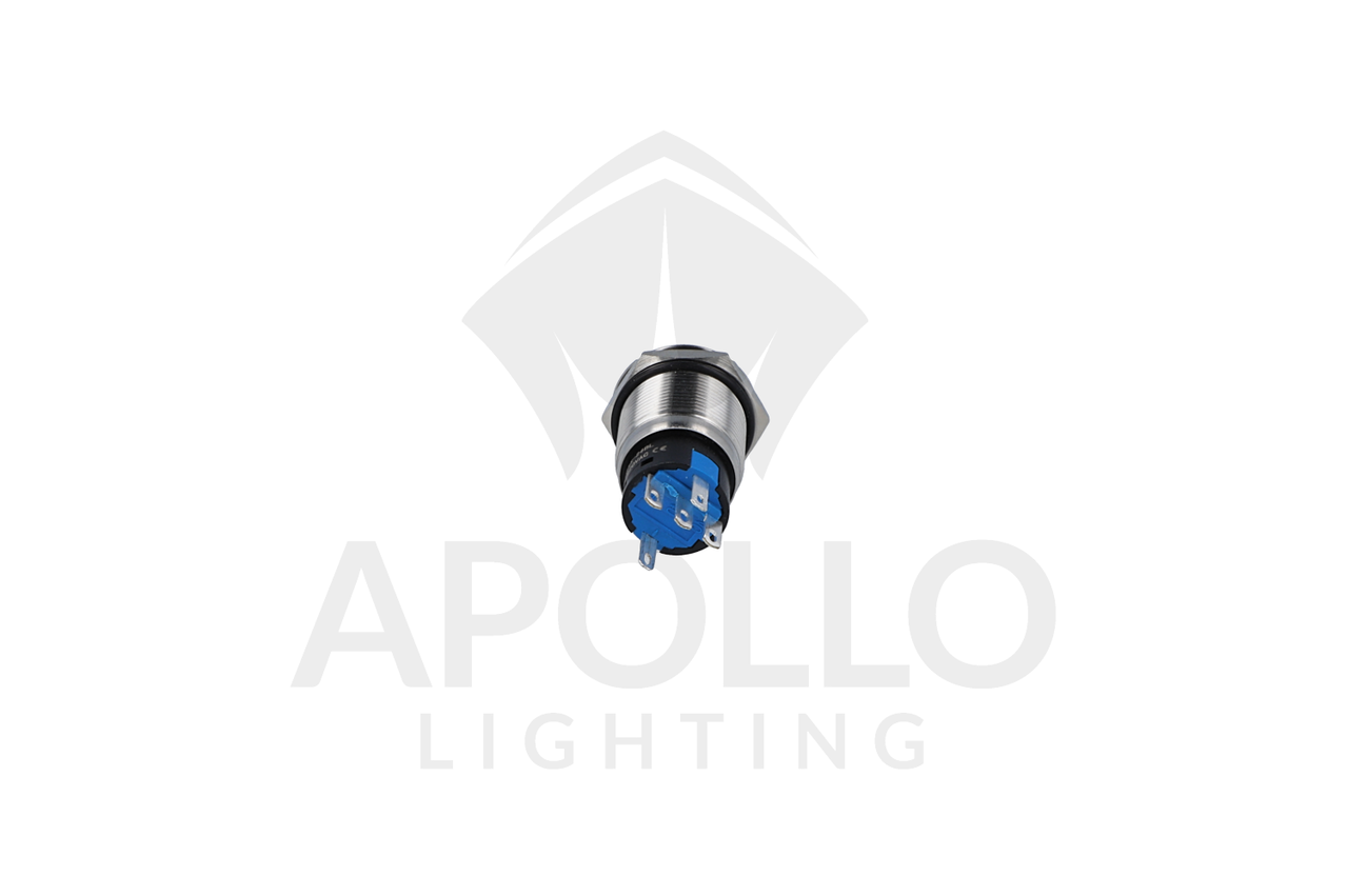 MINI LED PUSH BUTTON CONTACT SWITCH -5ADC (NON-RESETTABLE) (12V OR 24V)