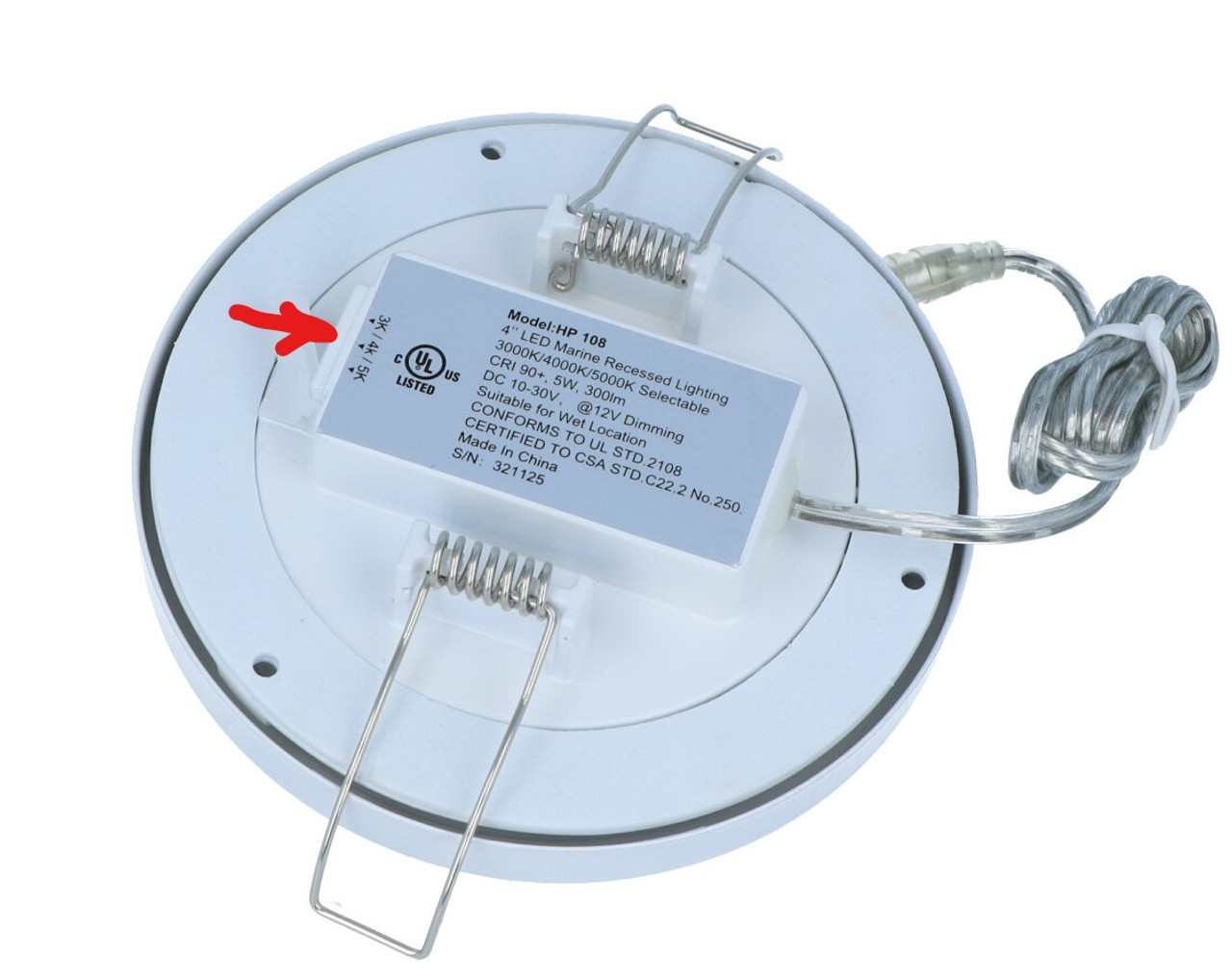 ML-6 AND ML-7 DOWNLIGHT SERIES:  W/SELECTABLE 3000K,4000K,5000K & RBW