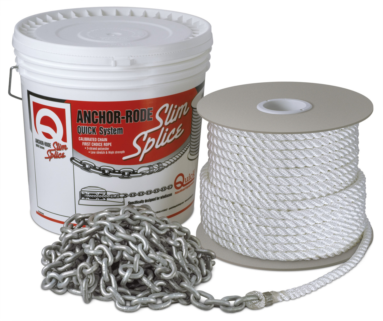 """ANCHOR RODE CHAIN 8mm/25FT ROPE 9/16""""/200FT 3 STRAND BUILD"""