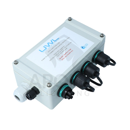 UWL: 4-light Junction Box (use w/DC single color QT-80-TI and QTS-100)
