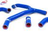 HONDA CRF 450 R 2013-2014 HIGH PERFORMANCE SILICONE RADIATOR HOSES Y KIT BLUE