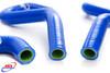 KAWASAKI KX 250 1994-2004 HIGH PERFORMANCE SILICONE RADIATOR HOSES BLUE