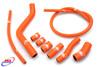 KTM 950 SUPERENDURO R 2007-2009  HIGH PERFORMANCE SILICONE RADIATOR HOSES KIT ORANGE