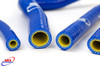 SUZUKI RM 125 1996-2000 HIGH PERFORMANCE SILICONE RADIATOR HOSES BLUE