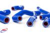 HONDA CRF 450 R 2002-2004 HIGH PERFORMANCE SILICONE RADIATOR HOSES BLUE
