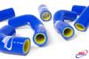 HUSQVARNA TE TC 400 450 510 2002-2008 HIGH PERFORMANCE SILICONE RADIATOR HOSES BLUE