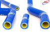 SUZUKI RM 125 2001-2008 HIGH PERFORMANCE SILICONE RADIATOR HOSES BLUE
