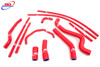 YAMAHA FZ1 1000 FAZER 2006-2011 HIGH PERFORMANCE SILICONE RADIATOR HOSES RED