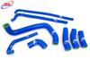 KAWASAKI ZX7R 1996-2003 HIGH PERFORMANCE SILICONE RADIATOR HOSES BLUE