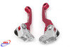HONDA CR 125 250 04-07 CRF 250 450 R 04-06 X 04-18 FRONT BRAKE & CLUTCH FLEXI PIVOT LEVERS RED