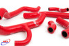 DUCATI 848 1098 1198 2007-2014 HIGH PERFORMANCE SILICONE RADIATOR HOSES RED
