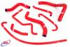 SUZUKI GSXR 600 750 2011-2020 HIGH PERFORMANCE SILICONE RADIATOR HOSES RED