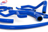 SUZUKI GSXR 600 750 2011-2020 HIGH PERFORMANCE SILICONE RADIATOR HOSES BLUE