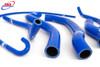 SUZUKI GSXR 600 750 SRAD 1996-2000 HIGH PERFORMANCE SILICONE RADIATOR HOSES BLUE