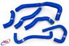 KAWASAKI ZX6R 2009-2021 HIGH PERFORMANCE SILICONE RADIATOR HOSES BLUE