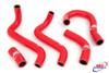KAWASAKI GPZ 500 1987-2005 HIGH PERFORMANCE SILICONE RADIATOR HOSES RED