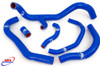 HONDA CBR 600 RR 2007-2019 HIGH PERFORMANCE SILICONE RADIATOR HOSES BLUE