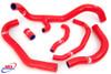 HONDA CBR 600 RR 2007-2019 HIGH PERFORMANCE SILICONE RADIATOR HOSES RED