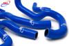 SUZUKI GSF 1250 BANDIT 2007-2016 HIGH PERFORMANCE SILICONE RADIATOR HOSES BLUE