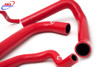 BMW S 1000 R RR HP4 XR 2009-2016 HIGH PERFORMANCE SILICONE RADIATOR HOSES RED