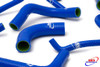 KAWASAKI ZX12R ZX 12 R 2000-2006 HIGH PERFORMANCE SILICONE RADIATOR HOSES BLUE