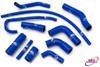 YAMAHA YZF 600 R6 2006-2021 HIGH PERFORMANCE SILICONE RADIATOR HOSES BLUE