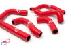 BETA RR 250 300 2T 2013-2015 HIGH PERFORMANCE SILICONE RADIATOR HOSES RED