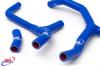 HONDA CRF 450 R 2009-2012 HIGH PERFORMANCE SILICONE RADIATOR HOSES Y KIT BLUE