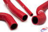 SUZUKI GSXR 1000 2007-2008 K7 K8 HIGH PERFORMANCE SILICONE RADIATOR HOSES RED