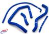 SUZUKI GSX 1300 R HAYABUSA 1999-2007 HIGH PERFORMANCE SILICONE RADIATOR HOSES BLUE