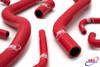 YAMAHA YZF 600 THUNDERCAT 1996-2003 HIGH PERFORMANCE SILICONE RADIATOR HOSES RED
