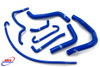 SUZUKI GSXR 600 750 2006-2010 K7 K8 K9 HIGH PERFORMANCE SILICONE RADIATOR HOSES BLUE