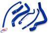 SUZUKI GSXR 1000 2005-2006 K5 K6 HIGH PERFORMANCE SILICONE RADIATOR HOSES BLUE