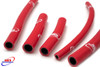 APRILIA SXV RXV 450 550 2006-2012 HIGH PERFORMANCE SILICONE RADIATOR HOSES RED