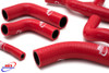 DUCATI ST2 1997-2003 HIGH PERFORMANCE SILICONE RADIATOR HOSES RED