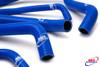 HONDA CBR 600 F4 F4I 1999-2002 HIGH PERFORMANCE SILICONE RADIATOR HOSES BLUE